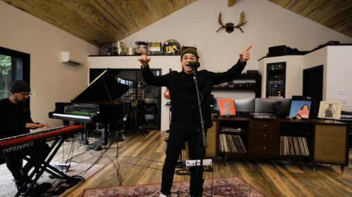 Tauren Wells performing an acoustic rendition of Famous For